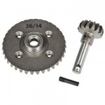 Heavy Duty Bevel Gear Set 36T/14T for Axial SCX10 & Wraith
