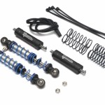 Aluminum Adjustable Piggyback Shocks 70MM (2) Black
