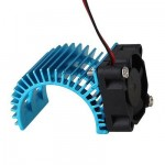 Aluminum Alloy Motor Heatsink w/ Fan for RC 540 Motor – Blue+