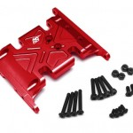 Aluminum Skid Plate for Axial SCX-10 -Red [RECON G6 The Fix Certified]