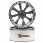 Gemini™ 1.9 High Mass Beadlock Aluminum Wheels Spoke-8 TYPE D (2) Gun Metal