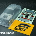 Nissan DR86 Clear Body Shell 195mm +
