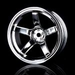 Silver 5 spokes wheel – 4 pcs