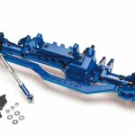 Complete Assembled Aluminum AR60 Front Axle Yeti Wraith Bomber Score Blue