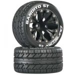 DuraTrax Bandito ST 2.8 Truck Mntd 1/2 Offset C2 Blk (2)*