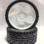 Off Road Glued Rims + Tires White 17mm for 1/8 Scale Buggy*