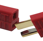 T Plug Connector 1 Piece Set – Red+