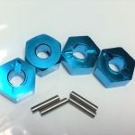 Aluminium Wheel Hex 12mm- Blue*