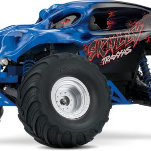 The Traxxas 1/10 Scale 2WD Monster Truck Skully™ Blue