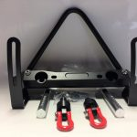 SCX10 Realistic Front Bumper with Towing Hooks- Black+