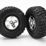Traxxas Tires & wheels, assembled, glued (2 pcs) 2WD Front*
