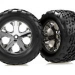 Traxxas Talon Rear Tires w/All-Star Chrome Wheels (2)*