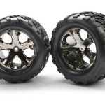 Traxxas Talon Rear Tires w/All-Star Wheels (2) (Black Chrome)*