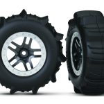 Traxxas Tires & Wheels, Ass., Glued 4wd F/R, 2wd Rear*