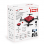 PRO15 2.4G FPV HD Camera Folding Selfie Drone Red