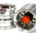 Machined Alloy T6 Rear Dually Wheel (2) for Tamiya 1/14 Scale Tractor Trucks+