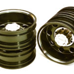 Billet Machined Alloy Rear Dually Wheel Set for Tamiya 1/14 Scale Tractor Trucks+