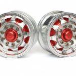 1/14 Tractor Trucks Rear Wheels Single Wheels (2 pcs) Version B Red+