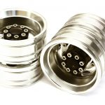 Machined Alloy T8 Rear Dually Wheel Set for 1/14 Scale Tractor Trucks