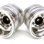Machined Alloy T7 Rear Dually Wheel Set for 1/14 Scale Tractor Trucks Silver