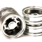 Machined Alloy Rear Dually Wheel (2) Type I for Tamiya 1/14 Scale Tractor Trucks