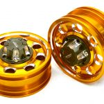Billet Machined Alloy Front Wheel for Tamiya 1/14 Scale Tractor Trucks (Gold)