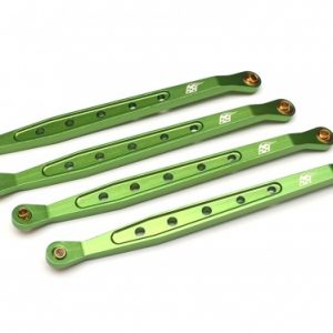 Aluminum Chassis Linkage (4 pcs) for Axial Wraith- Green