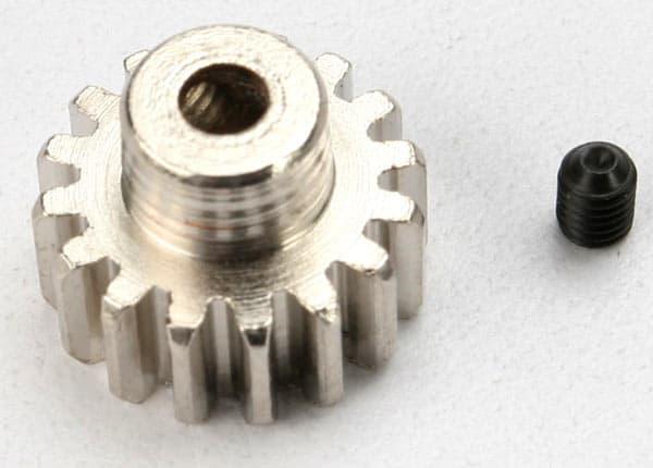 TRA3946 - Gear, 16-T pinion (32-p) (mach  steel)/ set screw