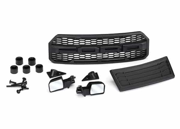 TRA5828 - Body accessories kit, 2017 Ford Raptor® (includes grill, hood  insert, side mirrors, & mounting hardware)