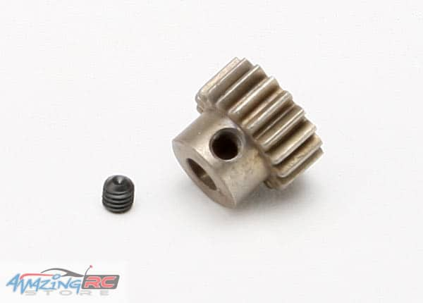 TRA5644- Gear, 18-T pinion (0 8 metric pitch, compatible with 32-pitch)  (hardened steel)